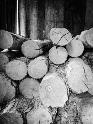 Mountain Farm Wood Pile